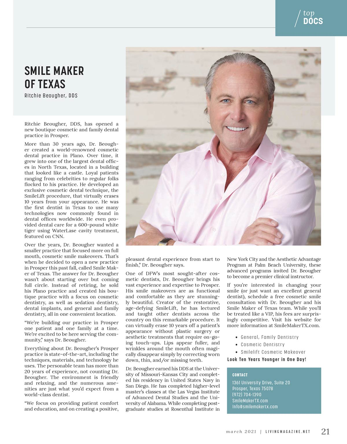 Smile Maker of Texas Named Top Doctor